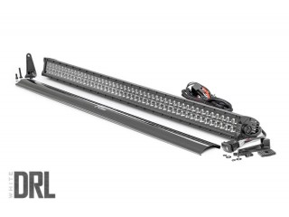 127cm LED Light Bar Double Row Black Panel White DRL Rough Country