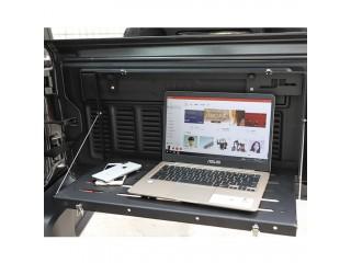 Jeep Wrangler JL Tailgate Aluminium Alloy Flip Down Storage Rack OFD