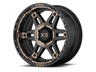 "17"" x8 6x139,7 ET 18 Alloy Wheel XD 840 Spy II Black / Brown"