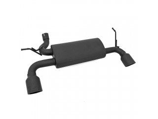 Jeep Wrangler JK (2007-2018) Black Exhaust Dual Outlet Pipe System OFD