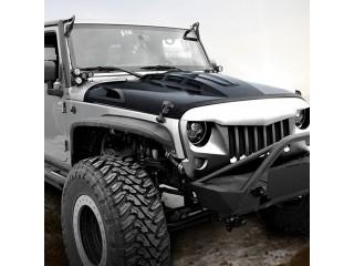 Jeep Wrangler JL Steel Hood Matte Black Avenger OFD