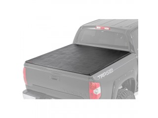 "Toyota Tundra (2014-on) Soft Bed Cover 5' 5"" With Cargo Management System Tri-Fold Rough Country"