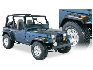 Jeep Wrangler YJ Fender Flares Cut-Out Bushwacker