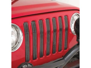 Jeep Wrangler TJ Billet Aluminium Grille Inserts Smittybilt