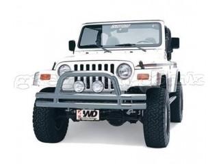 Jeep Wrangler TJ Stainless Steel Front Tubular Bull Bar Bumper With Hoop Smittybilt