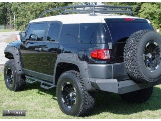 Toyota FJ Cruiser Black Steel Side Steps Nerf Smittybilt