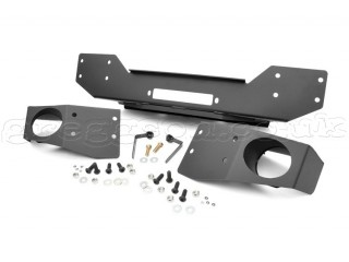 Jeep Wrangler JK Winch Plate Bumper With Fog Mounts Rough Country