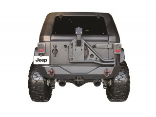 Jeep Wrangler JK Steel Rear Bumper Tire Carrier Go Industries