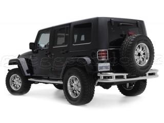 Jeep Wrangler JK Stainless Steel Rear Bumper Tubular Smittybilt