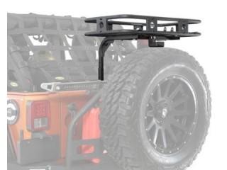 Jeep Wrangler JK Defender Rack Basket Tailgate Smittybilt