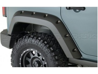 Jeep Wrangler JK 4D Rear Fenders Flares Pocket Style Factory Coverage Bushwacker