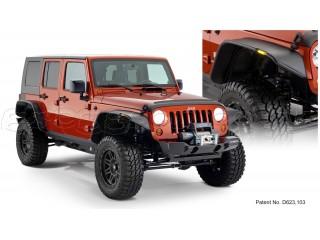 Jeep Wrangler JK 4D Fenders Flares Flat Style Bushwacker