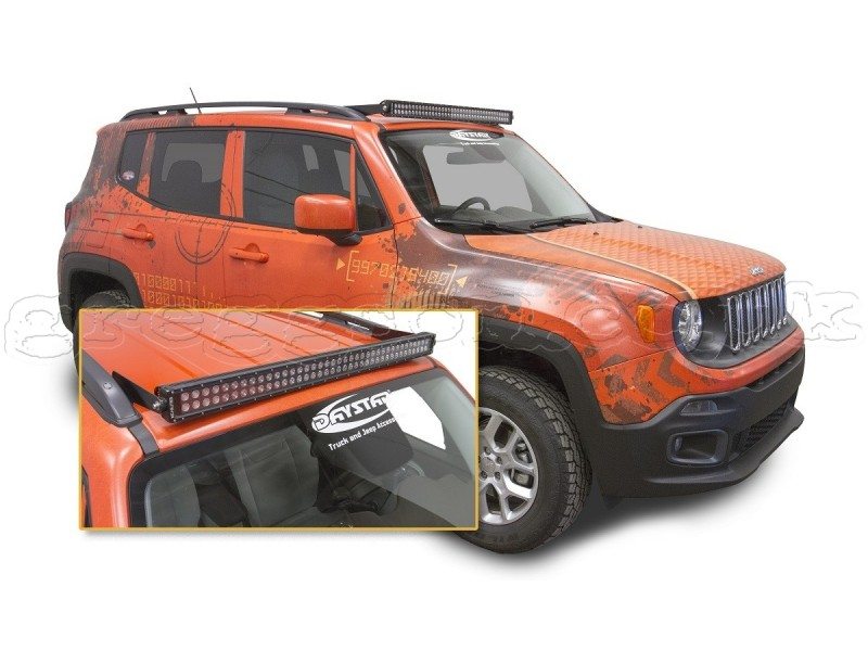 Jeep Renegade Light Covers >> Jeep Renegade Black Bull Bar Spacer Daystar Greggson Off-Road | eBay