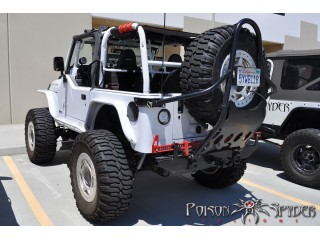 Jeep Wrangler TJ Rear Stinger Tire Carrier With Base Plate Pioson Spyder