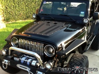 Jeep Wrangler TJ (2003-2006) Aluminum Black Hood Louver Pioson Spyder