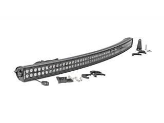 127cm LED Light Bar Curved Double Row Black Panel Rough Country