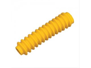 4x Shock Absorber Rubber Boots Yellow
