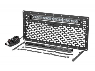 Jeep Wrangler JK Mesh Grille With Single Row LED Light Bar 50cm Rough Country