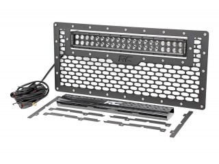 Jeep Wrangler JK Mesh Grille With Dual Row LED Light Bar 50cm Rough Country
