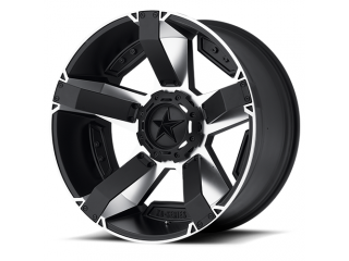 "17"" x 8 5x127 / 5x139,7 ET10 Alloy Wheel Black / Silver Model 811 Rockstar II XD Series"