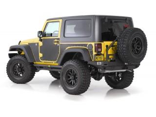 Jeep Wrangler JK 2D Mag Armor Magnetic Trail Skins Smittybilt