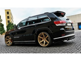 Jeep Grand Cherokee WK2 Summit Facelift (2014 -) Central Rear Bumper Diffuser Valance Extension (WITH A VERTICAL BAR)
