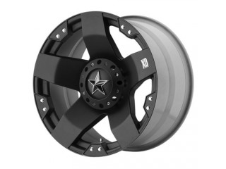 "17"" x 8 ET+10 5x127 Alloy Wheel Black Model ROCKSTAR KMC XD SERIES"
