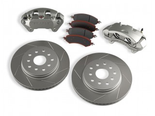 Jeep Wrangler JK Front Big Brake Kit With Slotted Rotors Teraflex