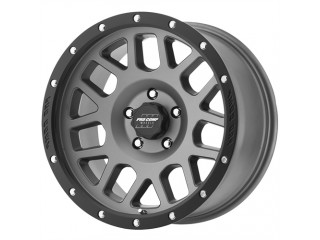 "17"" x 9 ET -6 5x127 Alloy Wheel Grey With Black Lip Model 2640 ProComp"