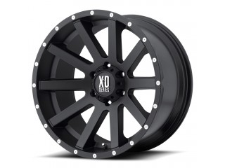 "18"" x 8 ET35 5x127 Alloy Wheel Black KMC XD SERIES Model 818"