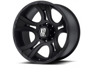 "18"" x 9 ET0 5x127 Black Alloy Wheel Model 801 KMC XD Series"