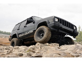 """Jeep Cherokee XJ 4,5"""" Lift Kit Suspension Long Arm Rough Country"""