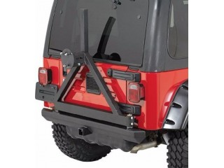 Jeep Wrangler YJ Rear Bumper Tire Carrier Classic Rock Crawler Smittybilt