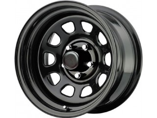 "16"" x 8 ET -6 5x127 Steel Wheel Gloee Black Pro Comp Rock Crawler 52"