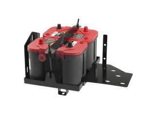 Jeep Wrangler JK Dual Battery Tray OPTIMA Smittybilt