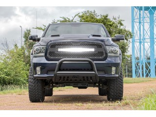 """Dodge RAM 1500 (2013-2018) Mesh Grille with 30"""" Dual Row Black Series LED Rough Country"""